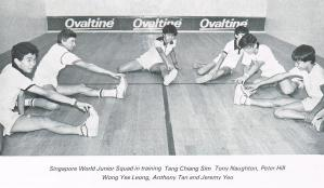 1981 Singapore Junior World squad with coach, Tony Naughton, plus as stated below photo