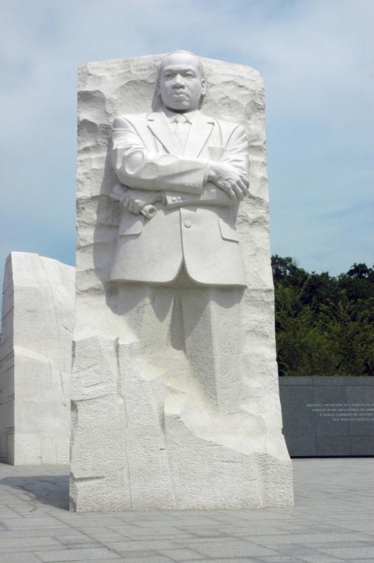 "Lei Yixin's ""Stone of Hope"" at the Martin Luther King, Jr. National Memorial in Washington, D.C. (Photo source: US National Park Service)"