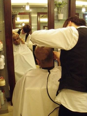 Head Shave at Shanghai 2008