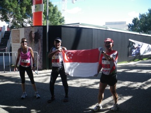 Just did my 100th Marathon at Brisbane 2010 with Annie (from Brisbane) and Dale from Taiwan