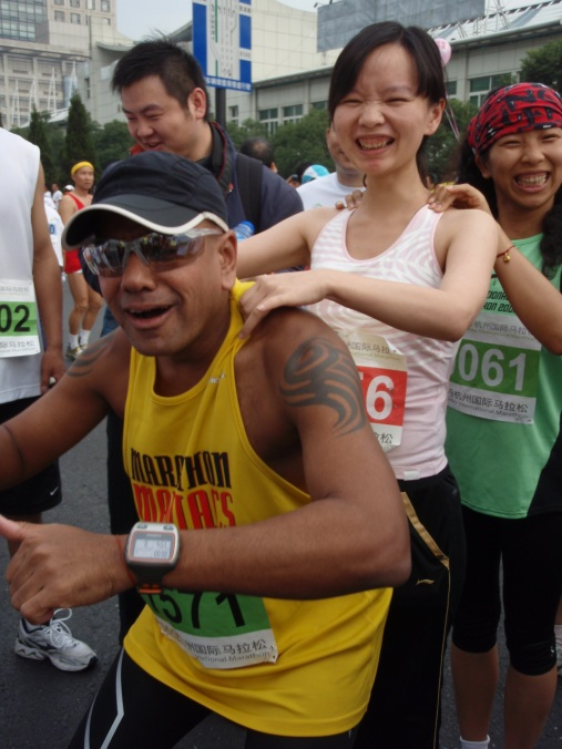 Massage can be fun at Hangzhou Marathon 2009