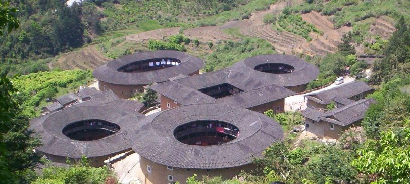 "Tianluokeng tulou site in Nanjing, nicknamed ""four dishes and a soup"", photo by Lam Pin Foo"