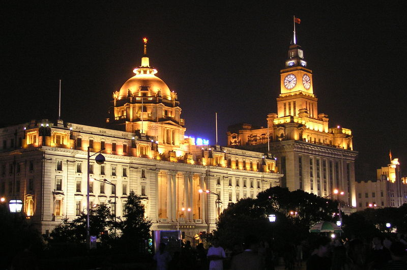 Colonial buildings on the Bund (Photo credit: Wikimedia Commons)
