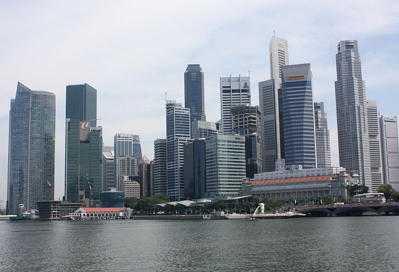 Singapore financial district (Photo credit: Wikimedia Commons)