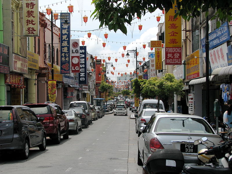 Penang Chinatown street (Photo credit: Wikimedia Commons)