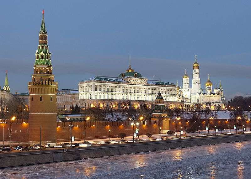 Kremlin, Moscow (Photo Credit: Wikimedia Commons)
