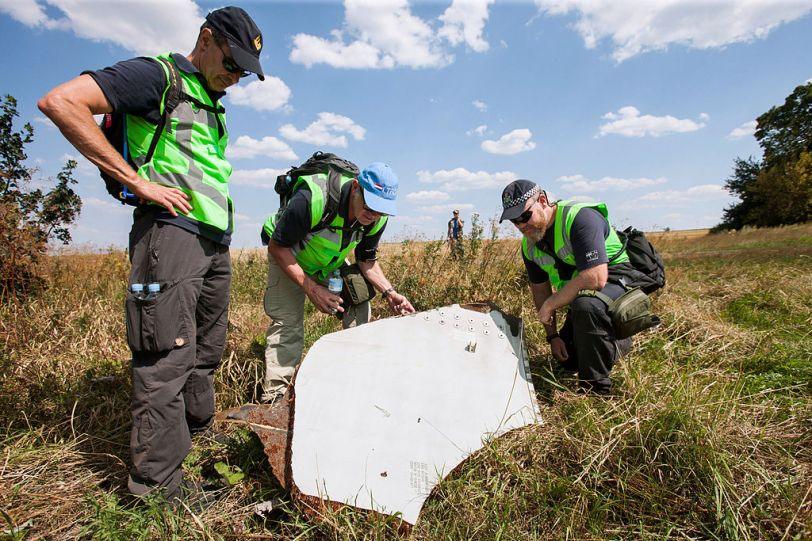 Wreckage of flight MH17, Ukraine (Photo credit: Wikimedia Commons)