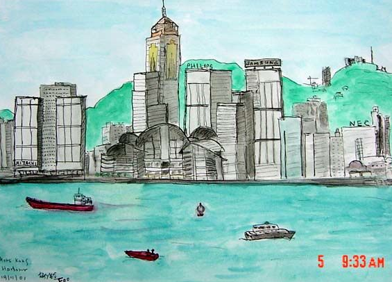 Hongkong waterfront (香港海滨), 2001