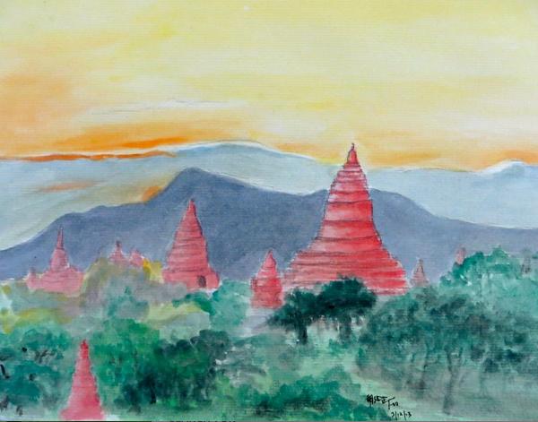 Bagan Myanmar (缅甸蒲甘), 2013