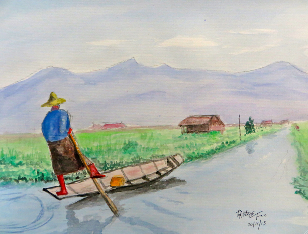 Balance: The Way Forward (Inle Lake Myanmar), (平衡:向前之道(茵莱湖 缅甸2013)), 2013