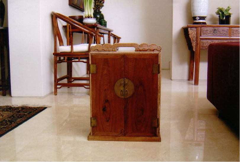 Photo 11 – Scholar's Small Travelling Bookcase - Huanghuali