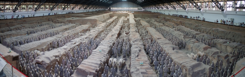 Qin Shi Huang's Terracotta Army (Credit: Wikimedia Commons)